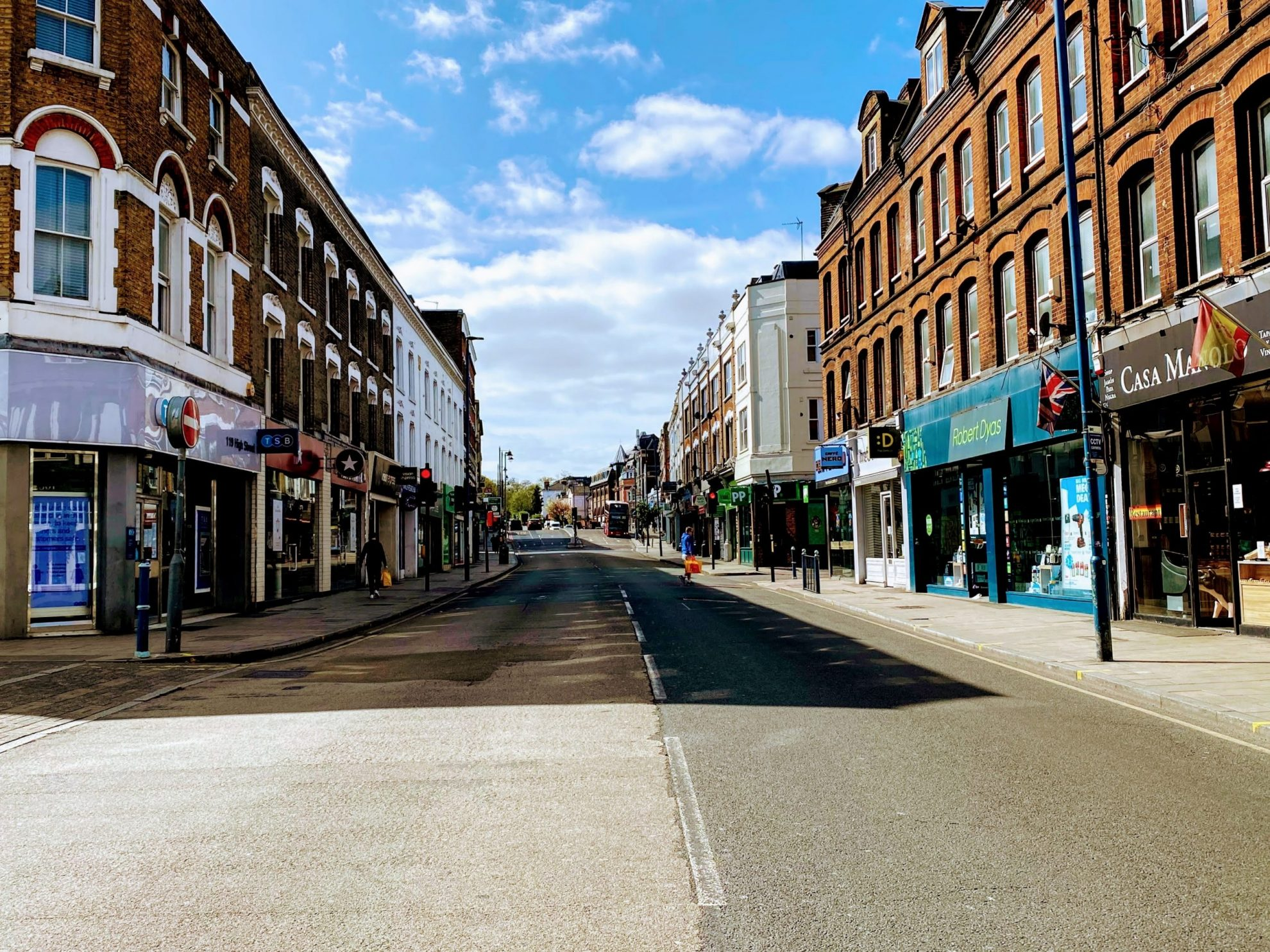 High street empty because of Coronavirus pandemic