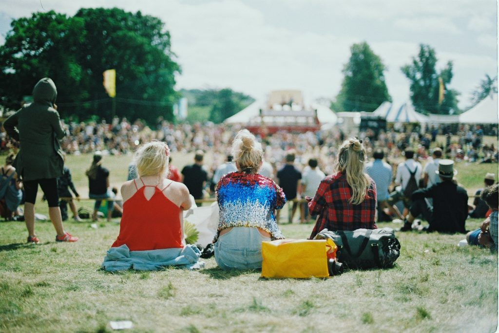 Three girls at cancelled festival