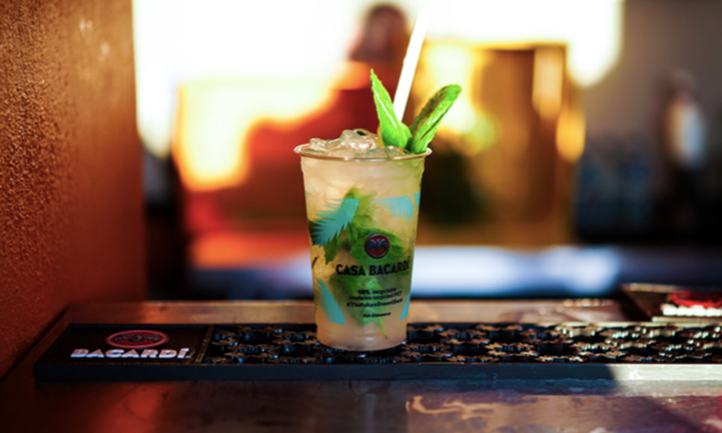 Bacardi Mojito in Bacardi Glass | Image from Casa Bacardi | Experiential Events run by ALTER Agency