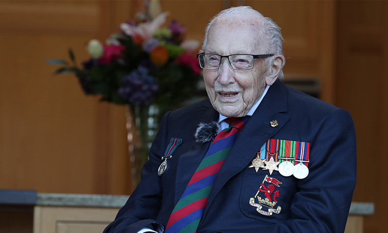 Charity PR | Captain Tom Honorary Lord's Taverner in private ceremony