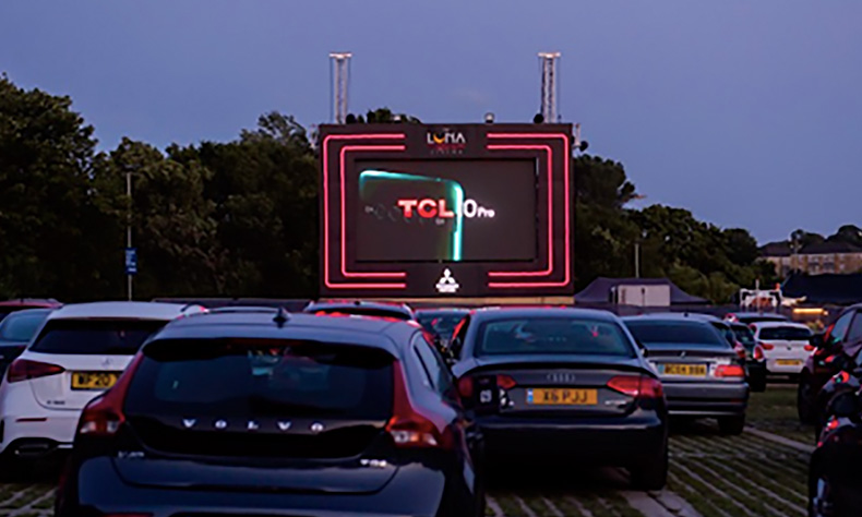 TCL Cinematic Trailer   Displayed at Luna Cinema Drive In Event on Cinema Screen