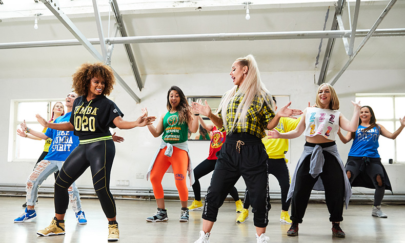 ZUMBA Partnership Activity | Fleur East learning Zumba Class | Partnership organised by ALTER Agency